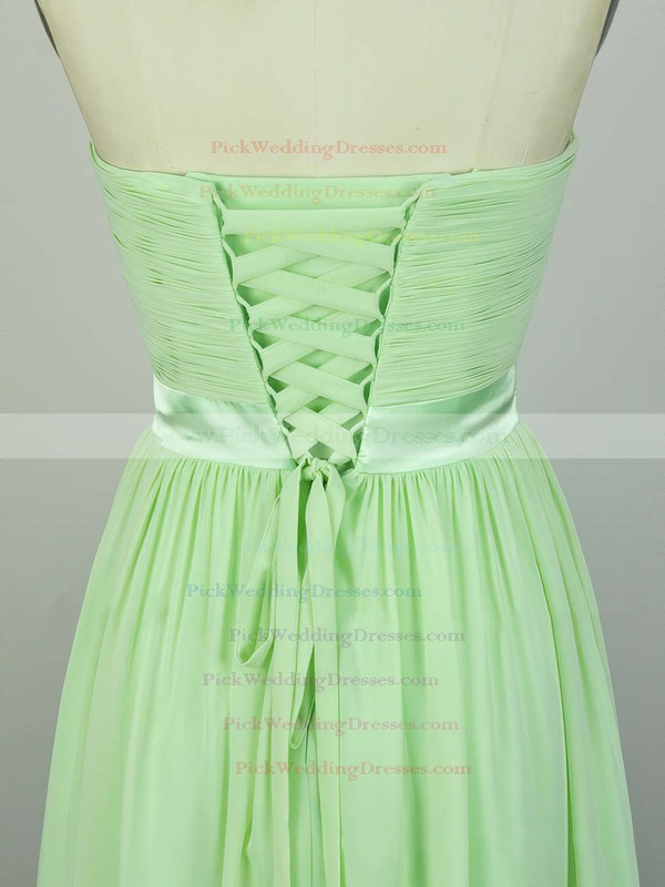 A-line Sweetheart Chiffon Floor-length with Sashes / Ribbons Bridesmaid Dresses #PWD010020104243