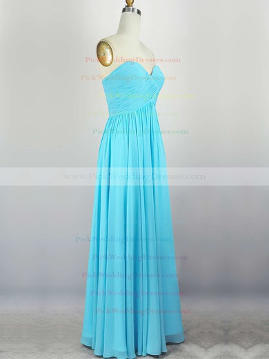 Empire Sweetheart Chiffon Floor-length with Pleats Bridesmaid Dresses #PWD010020104308