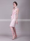 A-line Knee-length Chiffon Bow Scoop Bridesmaid Dresses #PWD02013680
