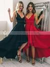 A-line V-neck Silk-like Satin Asymmetrical Sashes / Ribbons Bridesmaid Dresses #PWD010020105405