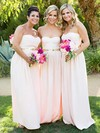 Chiffon Sweetheart Floor-length A-line Sashes / Ribbons Bridesmaid Dresses #PWD01013753