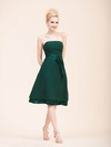 A-line Knee-length Chiffon Sashes/Ribbons Strapless Bridesmaid Dresses #PWD02022795