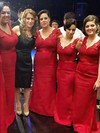 Lace Silk-like Satin V-neck Sweep Train Trumpet/Mermaid Sashes / Ribbons Bridesmaid Dresses #PWD01013737