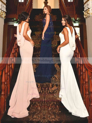 Jersey Sequined Sweetheart Sweep Train Trumpet/Mermaid Sashes / Ribbons Bridesmaid Dresses #PWD01013741
