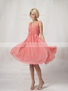 A-line Knee-length Chiffon Pleats V-neck Bridesmaid Dresses #PWD02022816