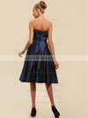 A-line Tea-length Taffeta Ruched Strapless Bridesmaid Dresses #PWD02042134