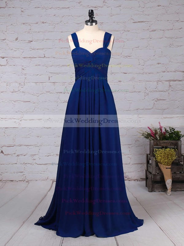 Empire Sweetheart Chiffon Floor-length Criss Cross Bridesmaid Dresses #PWD01013545