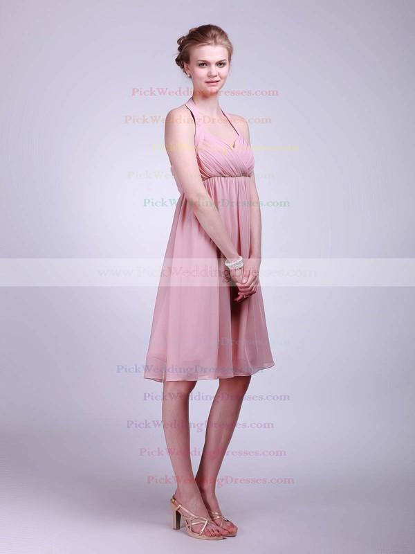A-line Knee-length Chiffon Ruffles Halter Bridesmaid Dresses #PWD01012019