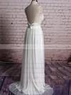 Sheath/Column Ivory Tulle V-neck Appliques Lace Open Back Wedding Dress #PWD00020567