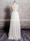 Ivory Tulle Lace with Sashes/Ribbons Floor-length V-neck Wedding Dress #PWD00020570