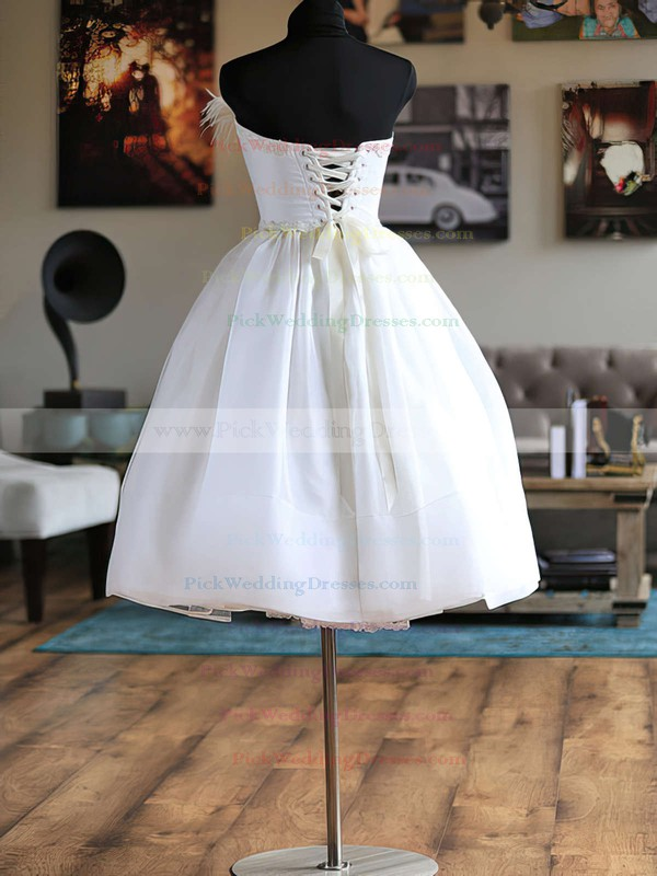 Strapless Organza Sashes / Ribbons Womens Ball Gown Wedding Dresses #PWD00020624
