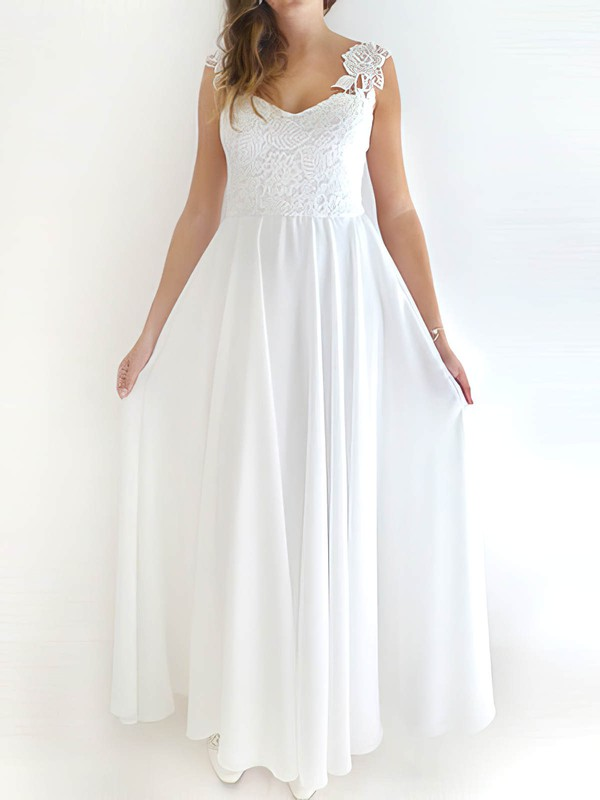 Sashes / Ribbons Sweetheart White Chiffon Ladies Wedding Dresses #PWD00020759