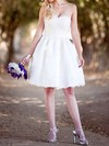Girls Sweetheart Ball Gown Ivory Satin Lace Wedding Dresses #PWD00020764