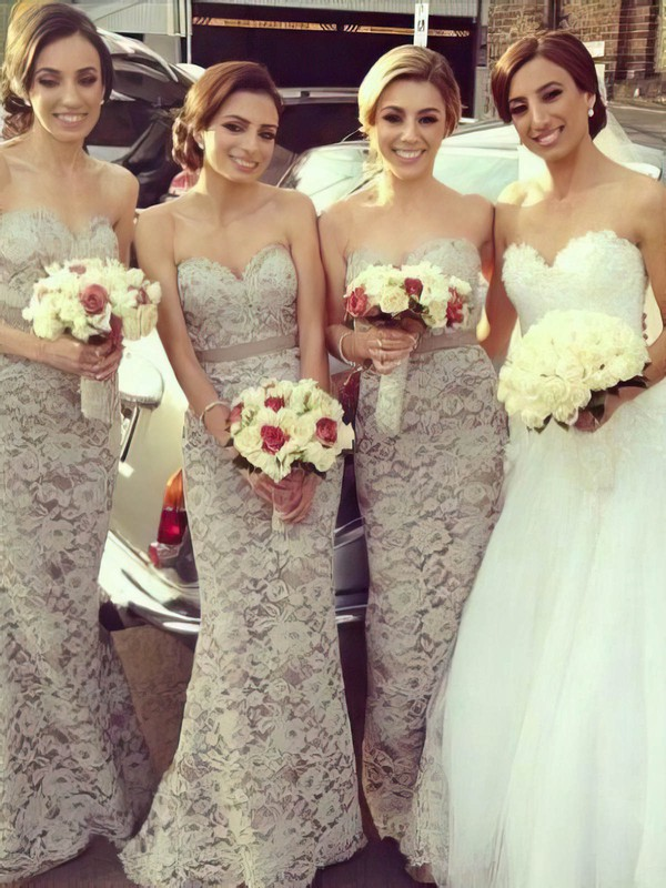 Sweetheart Lace with Sashes/Ribbons Online Trumpet/Mermaid Bridesmaid Dresses #PWD01012222