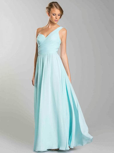 A-line Floor-length Chiffon Ruffles Sweetheart Bridesmaid Dresses #PWD02018054